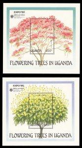 Uganda 1990 Scott #765-766 Mint Never Hinged