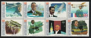 Micronesia Pioneers of Flight 8th series 8v Strip SG#514-521