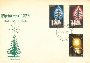 Norfolk Islands Scott 153-155 Unaddressed.