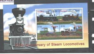 GUYANA  2004   TRAINS  #3873   MNH