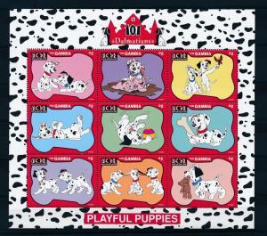 [22603] Gambia 1997 Disney Dogs Movie 101 Dalmatians Playful Puppies MNH