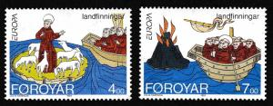 Faroe Is. St Brendan's Voyages Europa CEPT 2v SG#253-254 SC#264a