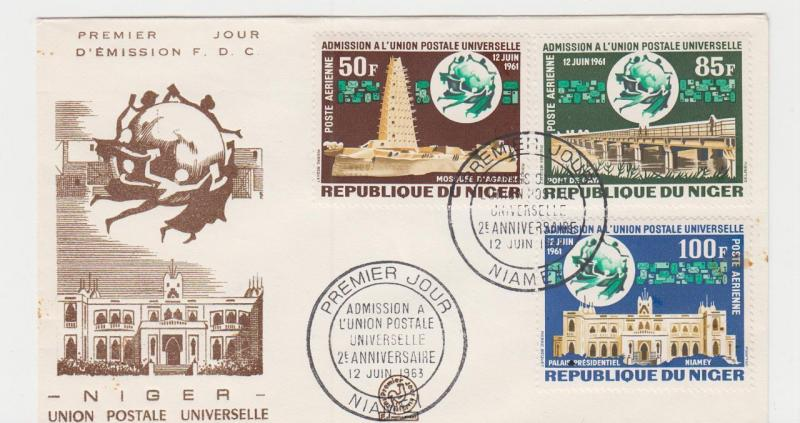 NIGER 1963 UPU SET ON FIRST DAY COVER (SEE BELOW)