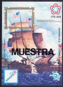 Equatorial Guinea 1976 Mi# H222  American Bicent/UPU MUESTRA Souvenir Sheet MNH