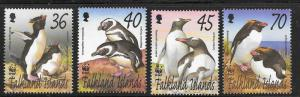 Falkland Islands 2002 WWF Birds Scott 817-820 VF NH Cat US$11.50