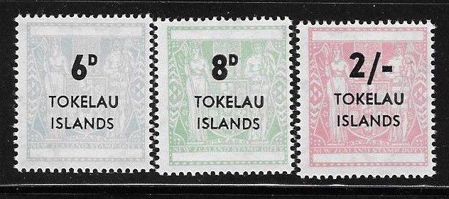 Tokelau 1966 Postal Fiscal NZ Surcharged Sc 6-8 MNH A1131