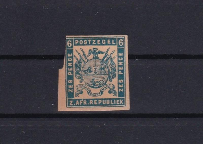 transvaal south africa early mounted mint stamp ref 13648