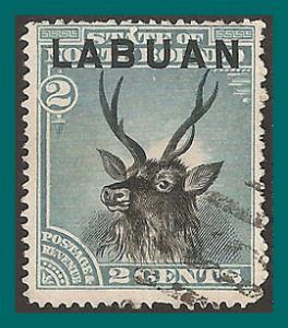 Labuan 1894 Sambar Stag, p15, cancelled  #50,SG63