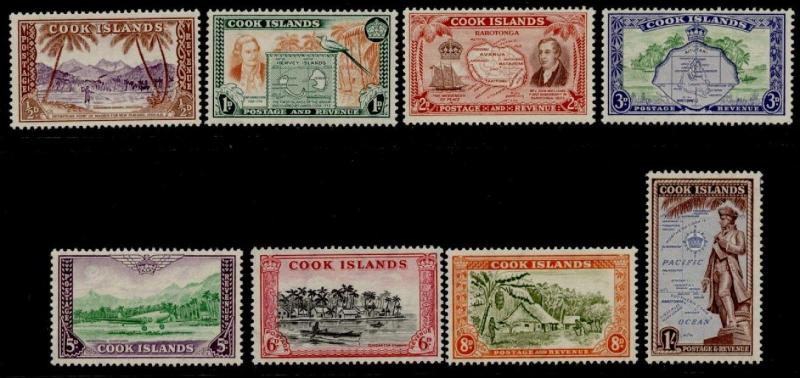 Cook Islands 131-8 MNH Map, Statue, Ship, Bird, Boat, Captain Cook, Aircraft