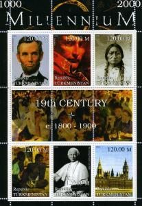 Turkmenistan 1999 MILLENNIUM 19th.Century 1800-1900 Sheet Perforated Mint (NH)