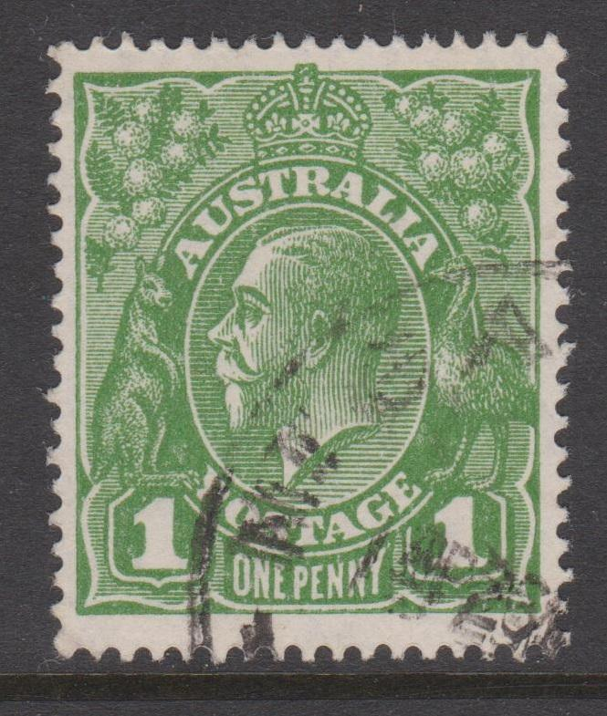 Australia 1926 KGV 1d Green  Scott#67 Fine Used