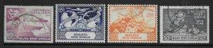 MALAYA NEGRI SEMBILAN SG63/6 1949 U.P.U. SET USED