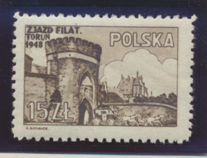 Poland Stamp Scott #434, Mint Hinged - Free U.S. Shipping, Free Worldwide Shi...