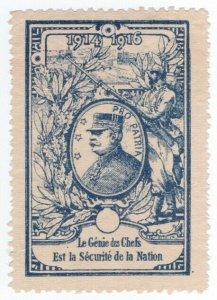 (I.B) France Great War Cinderella : Patriotic Stamp (Joffre)