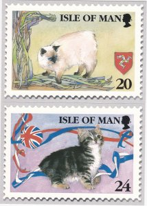 Isle of Man # 672-676, Manx Cats, Maxi Cards, Unused, Mint