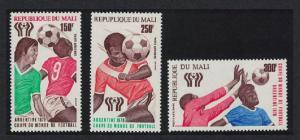 Mali World Cup Football Championship Argentina 3v SG#626-628