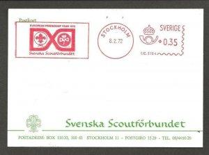 1972 Sweden Boy Scout meter European Friendship Stockholm