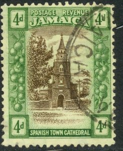 JAMAICA 1921-23 KGV 4d CATHEDRAL Pictorial Sc 94 VFU