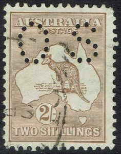 AUSTRALIA 1915 KANGAROO OS 2/- 2ND WMK USED
