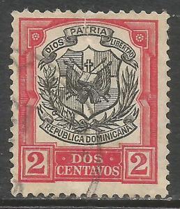 DOMINICAN REPUBLIC 180 VFU ARMS N618-4