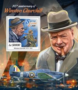SIERRA LEONE - 2019 - Winston Churchill - Perf Souv Sheet - MNH