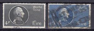 Ireland 1964 Sc#192/193 Theobald Wolfe Tone set (2) Used