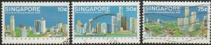 Singapore,  #499-501 Used  From 1987