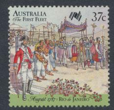 SG 1080  SC# 1027d  Used  - Australian Settlement 8th Issue