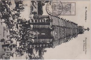 French India 1c Brahma 1922 Inde, Pondichery PPC (Pondichery - Procession du ...