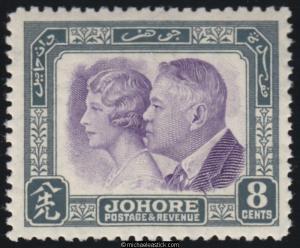 1935 Malaya Johore 50th Anniversary of Treaty, SG 129, MH