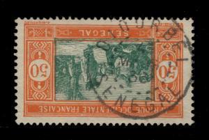SÉNÉGAL - 1936 - CAD DOUBLE CERCLE DIOURBEL/SENEGAL  SUR N°82