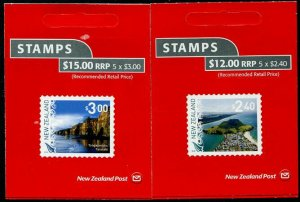HERRICKSTAMP NEW ISSUES NEW ZEALAND Sc.# 2802a-03a Landscapes 2018 Booklets