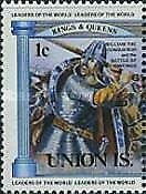 SW1 - Union Island  1984    -  Monarchs of Britain -   MNH set of 12 values