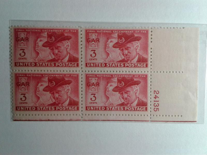 SCOTT # 985 MINT NEVER HINGED GEM PLATE BLOCK FOR ALL COLLECTORS AND DEALERS !!