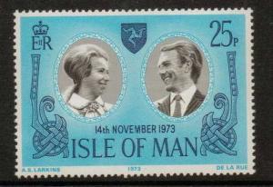 ISLE OF MAN SG41 1973 ROYAL WEDDING MNH