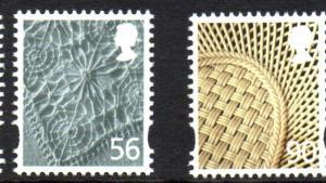 Great Britain Northern Ireland 30-1 2009 56p linen 90p china stamp set mint NH