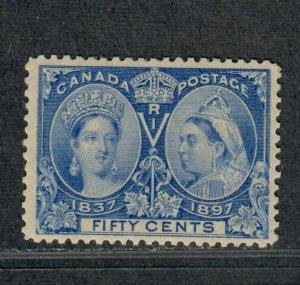 Canada Sc#60 M/LH/VF, Jubilee 50c Stamp, Cv. $375