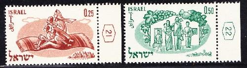 Israel #178 - 179 World Refugee Year MNH Singles