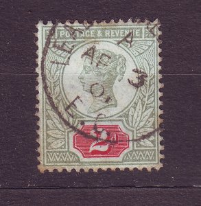 J23506 JLstamps 1887-92 great britain used #113 queen