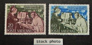 Vatican City 171-72. 1953 St. Bernard of Clairvaux, NH