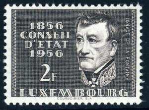 LUXEMBOURG 1956 Council of State Centenary 2f. Sepia SG 613 MINT
