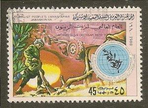 Libya    Scott  881  Olive Oil Year   Used