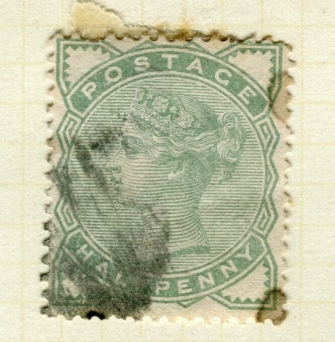 BRITAIN; 1880 early classic QV issue fine used 1/2d. value
