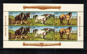 Horses..New Zealand  #B120A...Mini Sheet...mnh