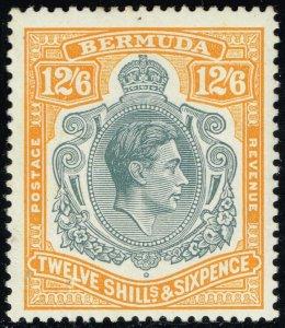 Bermuda #127 King George VI; Unused (3Stars)