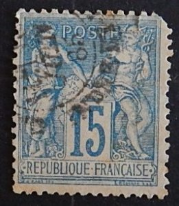 France, 1878, Pax and Mercur, SC #92A15 (2155-Т)