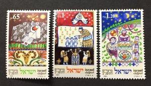 Israel 1991 #1089-91, Jewish Festivals, MNH.