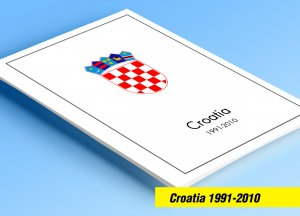 COLOR PRINTED CROATIA 1991-2010 STAMP ALBUM PAGES (111 illust. pages)