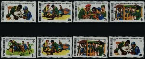 Maldives 427-34 MNH Scouts, World Conference, Animals, Agriculture