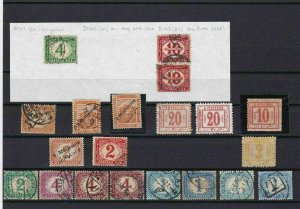 EGYPT POSTAGE DUES  MOUNTED MINT AND USED  STAMPS  REF 5171